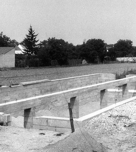 1965 Bau der Betriebshalle